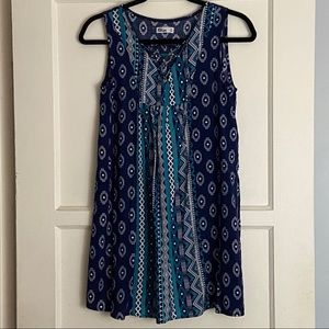 Epic Threads | Blue tribal sleeveless long shirt
